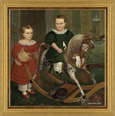 The Hobby Horse, after Irving-Couse