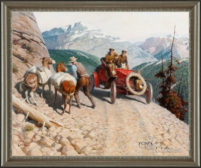 Dr. Jackson Blazes a Transcontinental Trail, after Tom Lovell