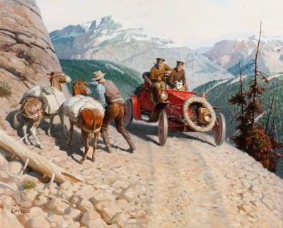 Dr. Jackson Blazes a Transcontinental Trail, c.1932, Oil on Canvas