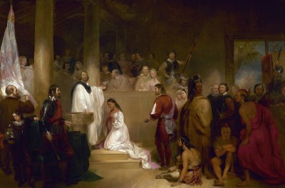 Baptism of Pocahontas, c.1840, Oil on Canvas
