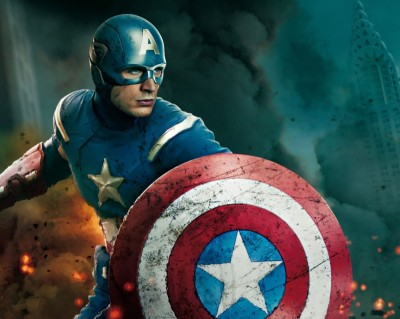 Captain America, c.2010, Digital Render on Canvas