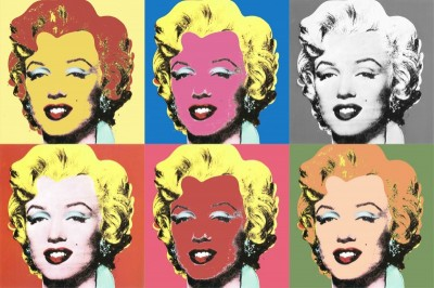 Marilyn Composition, c.1984, Silkscreen in Colors