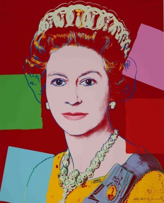 Queen Elizabeth II, c.1985, Silkscreen in Colors