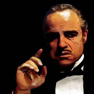Marlon Brando as Don Vito Corleone, c.2013, Digital on Canvas