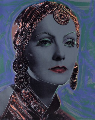 Greta Garbo, c.1985, Rendering on Canvas