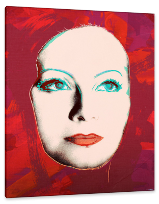 Greta Garbo, The Kiss, c.1985, Rendering on Canvas