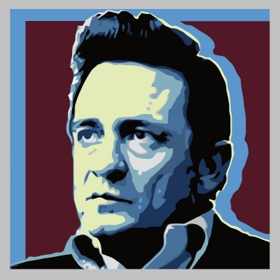 Johnny Cash, c.2014, Digital Rendering on Canvas