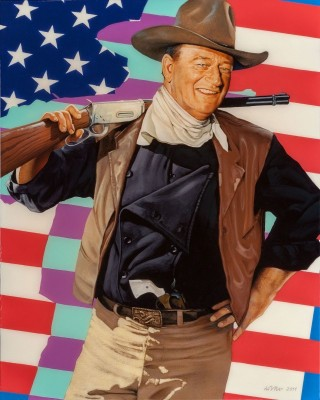 John Wayne, c.2011, Oil on Canvas