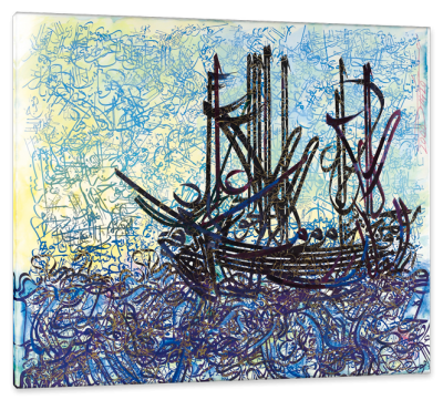 The Ship, c.2000, Oil and Watercolor on Parchment