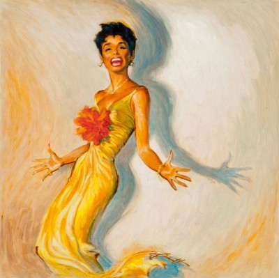 Encore by Lena Horne, c.1958, Gouache on Parchment