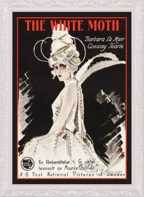Vintage Style Movie Poster, The White Moth