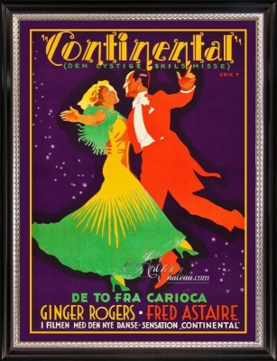 Vintage Style Movie Poster, The Gay Divorcee
