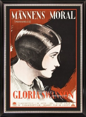 Vintage Movie Poster, Starring Gloria Swanson in Manhandled