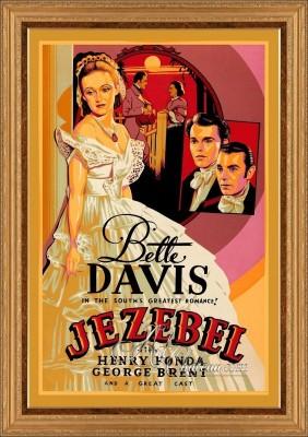 Hollywood Regency Poster, Starring Bette Davis in Jezebel