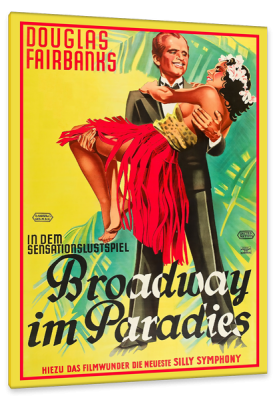 Broadway in Paradise, c.1932, Colorized on Fine Linen Canvas