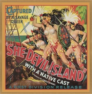 Vintage Movie Poster, She-Devil Island