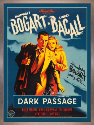 Vintage Hollywood Style Movie Poster, Dark Passage