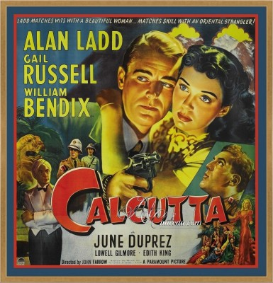 Vintage Style Movie Poster Titled Calcutta