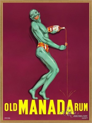 Vintage Style French Poster, Old Manada Rum