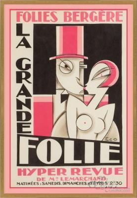 La Grande Folie, after Vintage Art Deco Poster