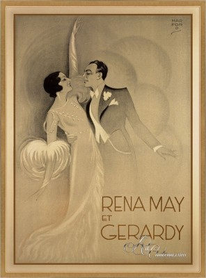 French Dancing Couple Rena May & Gerardy