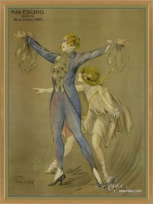 Vintage Art Posters, after artist Louis Icart