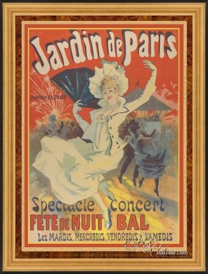 Vintage Style Art Poster, after Jules Cheret