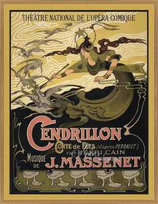 Cendrillon, after Vintage French Opera Poster