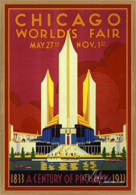 Vintage Poster of the Chicago World's Fair
