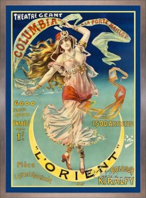 Vintage Art Nouveau Style Poster, Theater Geant