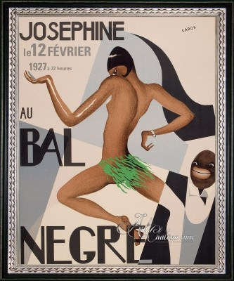 Vintage Style Poster of Josephine Baker, after Paul Colin