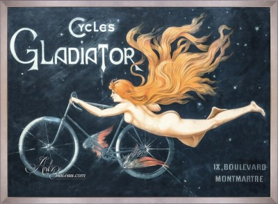 Vintage Style French Poster, Cycles Gladiator, Art Chateau