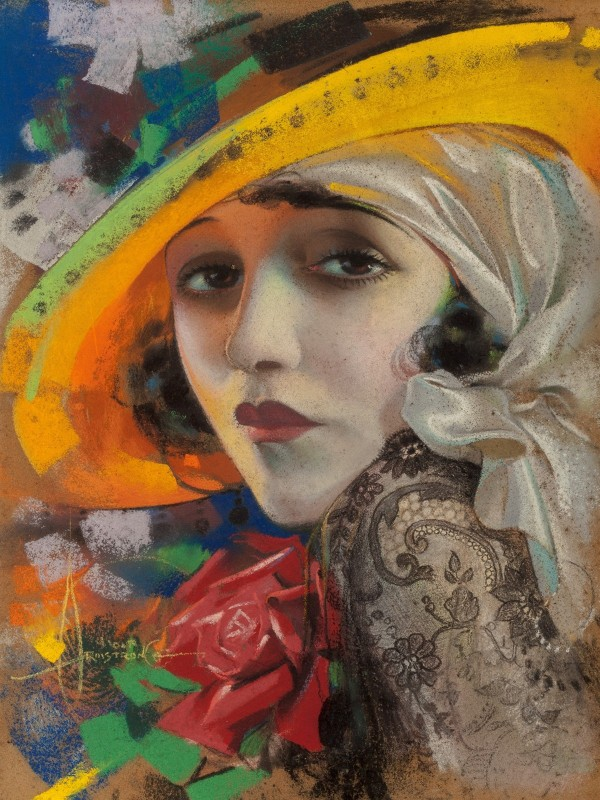 Bebe Daniels, Photoplay Magazine Cover, c.1921, Pastel on Board