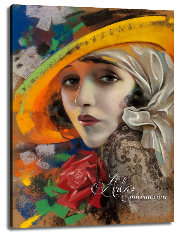 Mid-Century Modern Painting, Silent Screen actress Bebe Daniels
