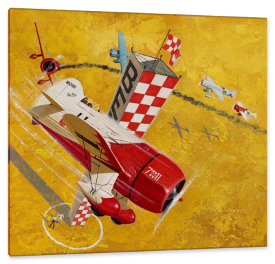Cleveland National Air Races, c.1932, Oil on Panel