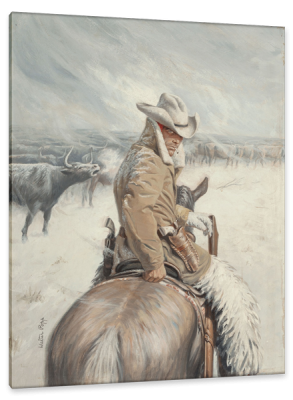 Four Texans North, Paperback Cover, c.1955, Oil on Board