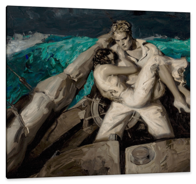 Couple at Sea, Cosmopolitan Magazine Story, c.1931, Oil on Canvas