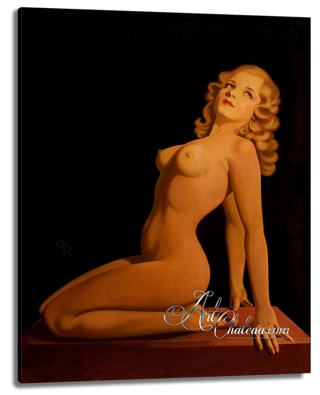 The Golden Nude, Mixed-Media Painting from Art Chateau