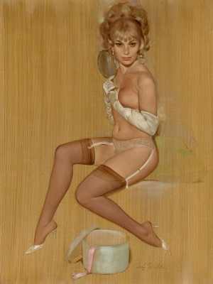 Pin Up with White Gloves, c.1966, Oil on Canvas