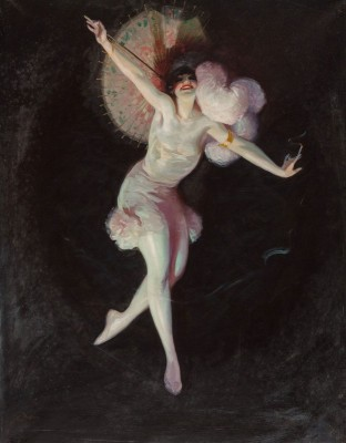 Ziegfeld Girl in Limelight, c.1914, Oil on Canvas