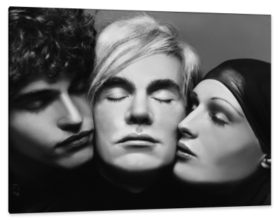 Andy Warhol with Jay Johnson and Candy Darling, New York, c.1969, Gelatin Silver Print