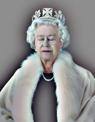 Lightness of Being, A Portrait of Queen Elizabeth II, c.2004, Archival Pigment Print