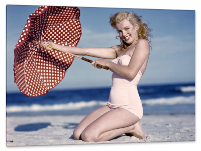 Nineteen Year Old Norma Jean Baker, Long Island's Tobay Beach, c.1945, Gelatin Silver Print