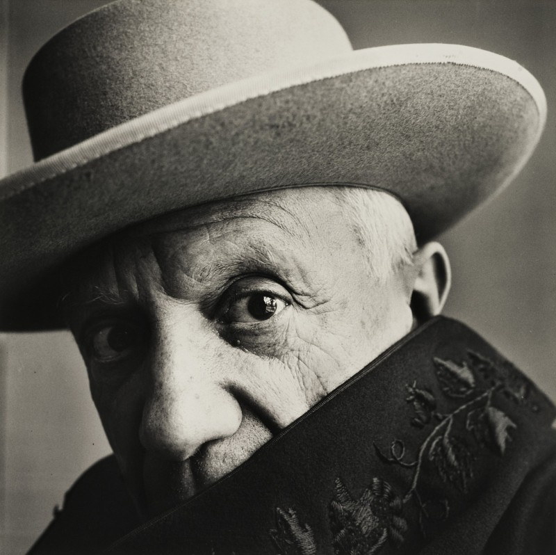 Picasso at the Cannes Film Festival, c.1957, Platinum-Palladium Print