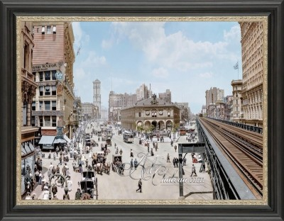 Vintage Photograph of Herald Square, New York City