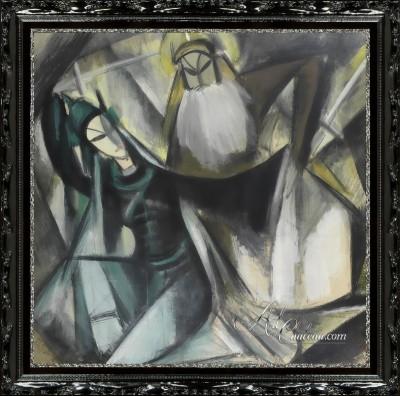 Encino Interior Design, Lin Fengmian Painting