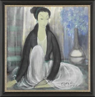 Contemplation, after Chinese artist Lin Fengmian