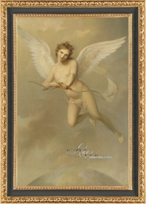 Swedish Rococo Style Painting of Cupid, after Fredric Westin