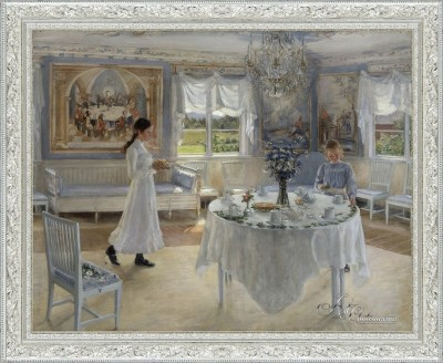 A Day of Celebration, after Painting by Fanny Brate