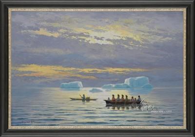 Fishing Departure, after Danish artist Emmanuel Petersen